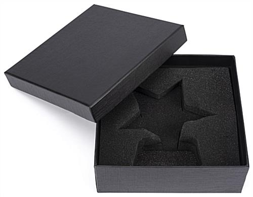 Glass star service award with custom fit protective gift box