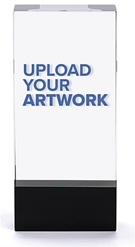 Crystal rectangle participation trophy with upload your artwork capabilities