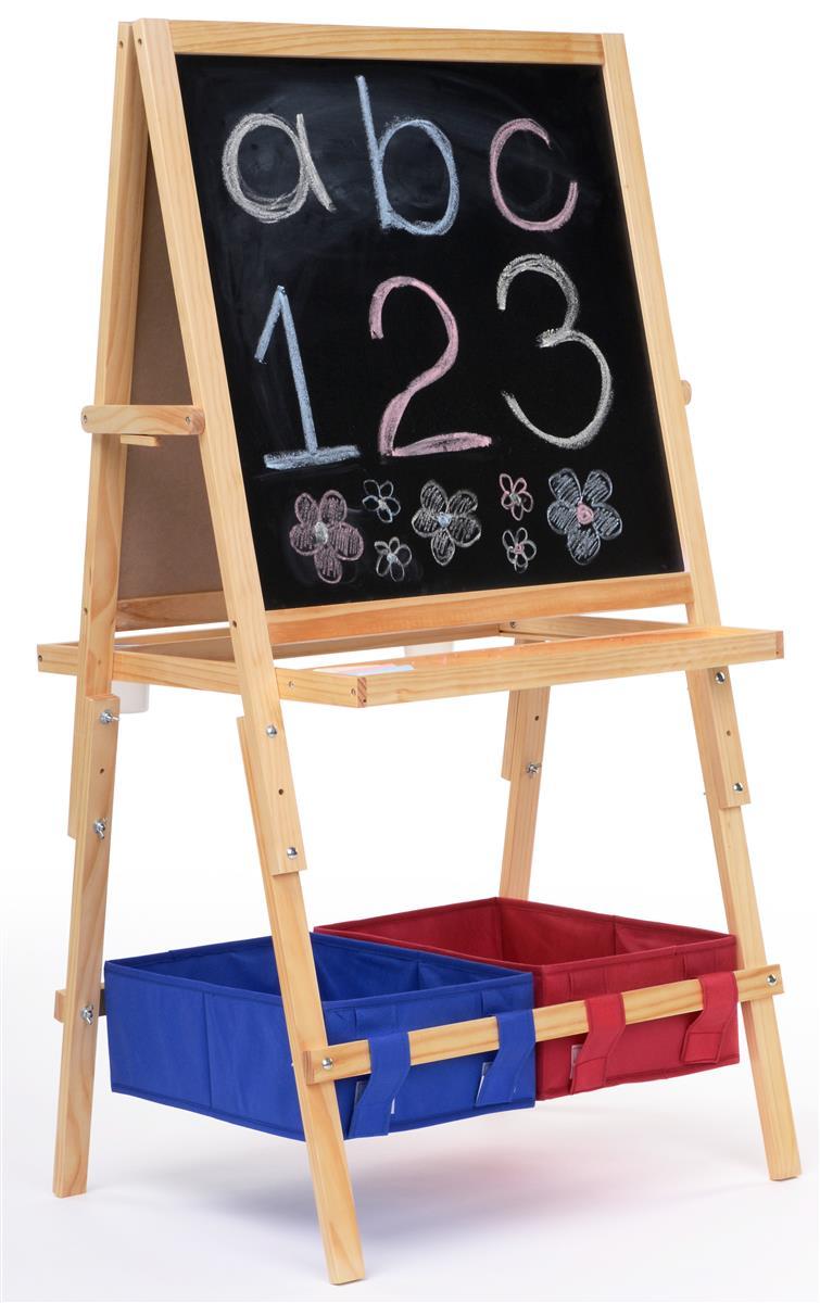Easel For Kids A Frame Chalkboard Amp Markerboard With Baskets