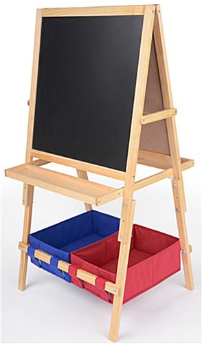 Easel For Kids A Frame Chalkboard Amp Markerboard With Baskets