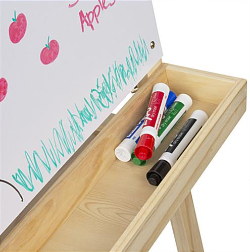 2 In 1 Easel with Deep Storage Tray