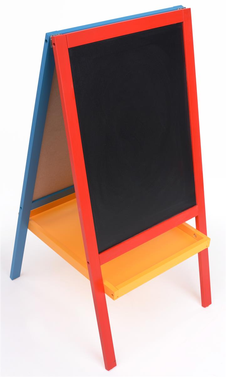 Kids Easels 3 Tall Wooden Display Is Red Yellow And Blue