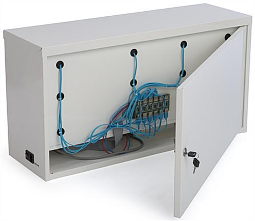 Mobile Device Locker with USB Hub