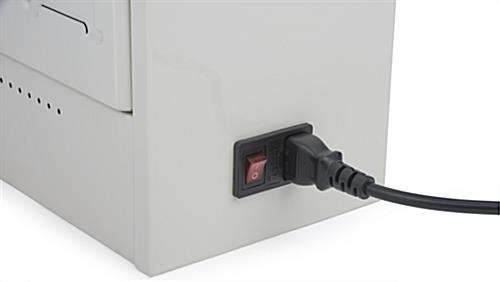 Cell Phone Charging Locker with Power Switch