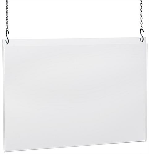 Acrylic Poster Hangers   17 x 11 Frame w/ Hanging Hardware