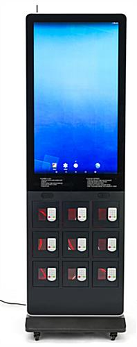 Digital kiosk charging locker with 69 inch power cord length