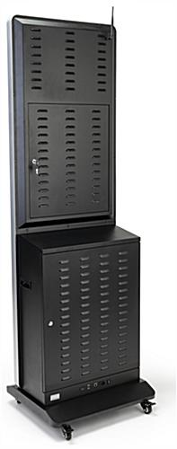 Digital kiosk charging locker with two locking back panels
