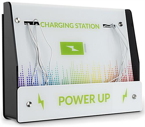Wall Mount Mobile Charging Kiosk with 10 Cords