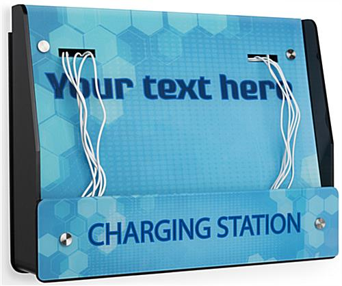 Wall Mount Mobile Charging Station with Stock Graphics