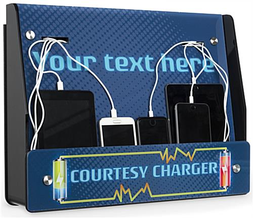 Wall Mount Device Charger Station for iPhones