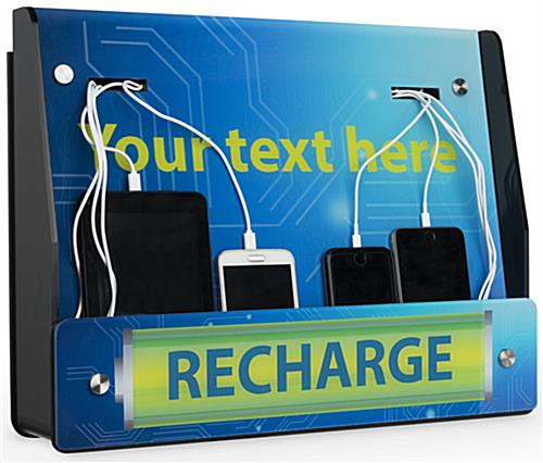 Wall Mount Device Recharge Station for Tablets