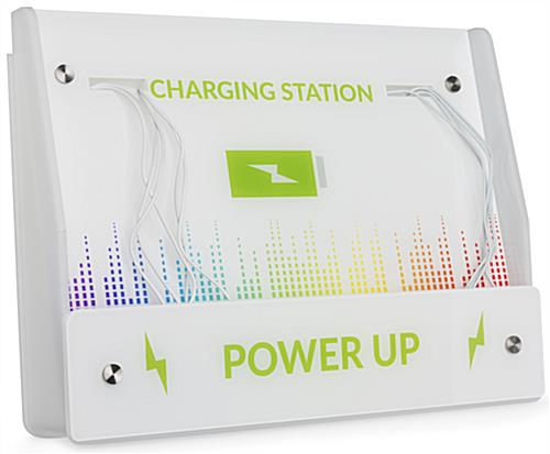 Mobile Phone Wall Charging Kiosk with Custom Graphics
