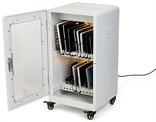 16 inch wide charge cabinet with wheels