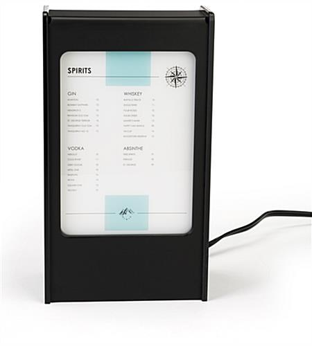 Led menu stand power bank with custom media