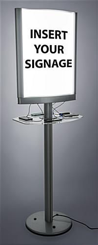 Double-sided snap frame light box charging station