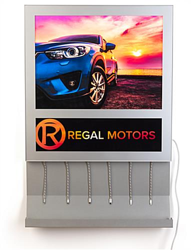 Chargledwl charging light box adversting poster with illuminated graphics