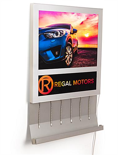 Silver wall mount light box charging station