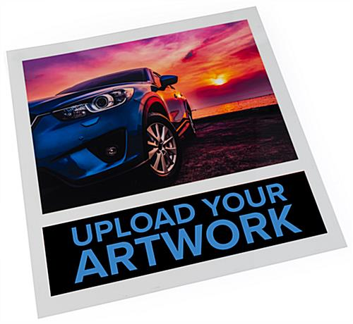 Upload your custom artwork for chargledwl charging light box adversting poster