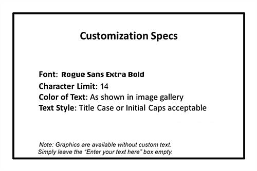 "Text Specifications for Replacement ""Charging Station"" Graphic"