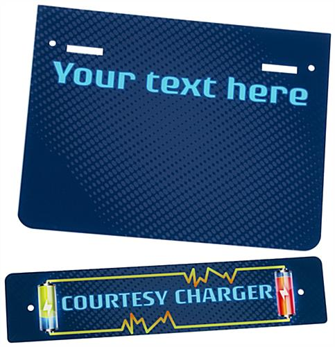 "Replacement ""Courtesy Charger"" Graphic with Stock Visuals"