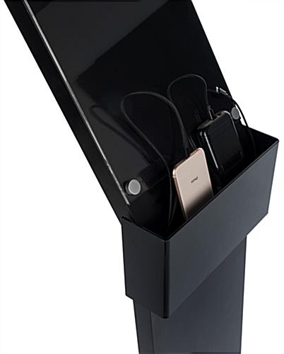 mobile charging station with floor sign holder with long-lasting high quality cords