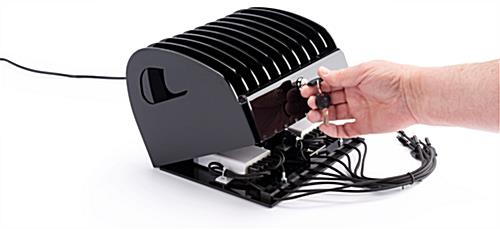 Acrylic charging station for electronics for in-home or business use