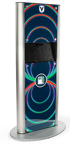 Custom power tower charging station with vivid full color graphics
