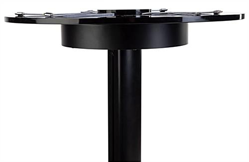 Black Qi wireless table charging station with 3 cable-free powering modules