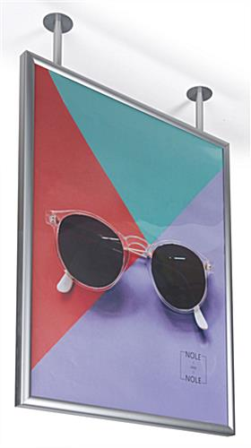 "Flange mounted ceiling graphic hanging frame for 30"" x 40"" prints"