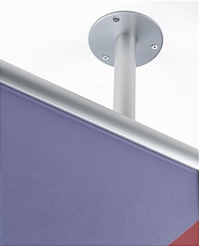 ... Ceiling Flange Mounted Graphics Display Frame With Hardware ...