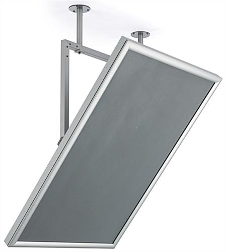 Poster swivel ceiling mount frame with anti-glare lens