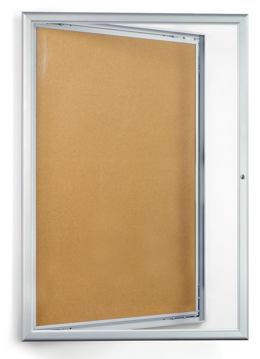 Enclosed bulletin boards 24 x 36 cord board with door for Cork board pin display