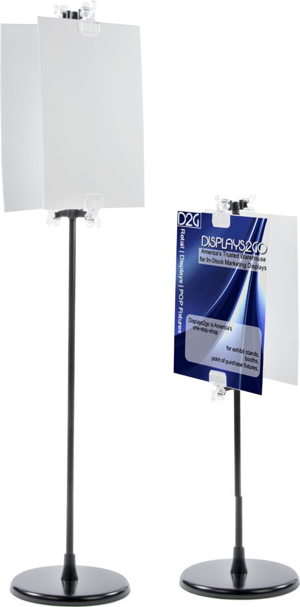 Poster Clip Stands Height Adjustable With Coroplast Signs