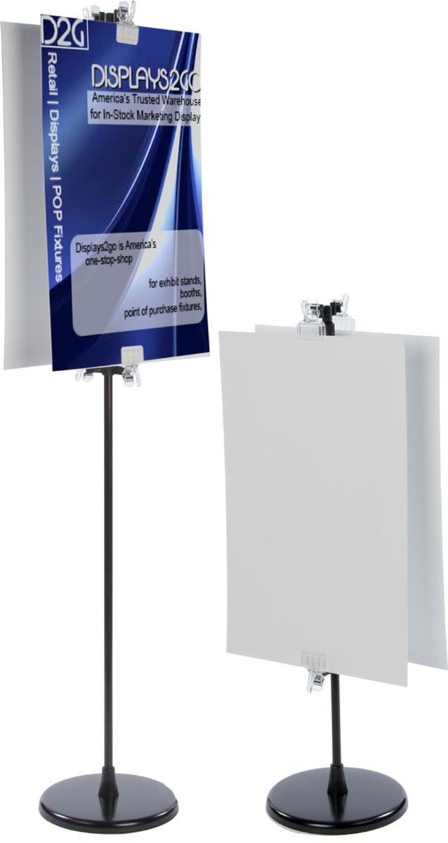 Standing poster board
