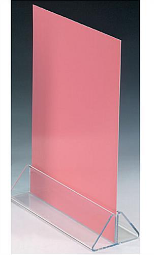 Acrylic Sign Holders Acrylic Plastic Base - Plastic table tent holders