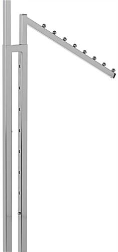 Height Changing Chrome Waterfall Clothing Rack
