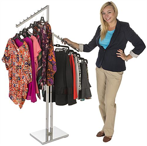 Organized Chrome Waterfall Clothing Rack