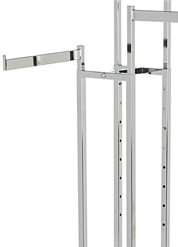 Height Changing 4-Way Clothing Rack