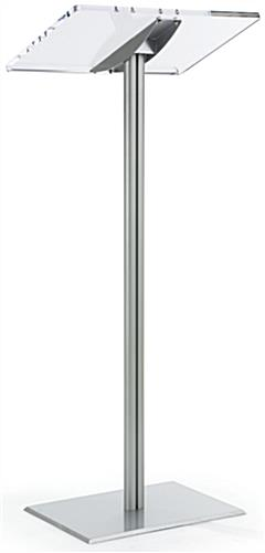 Basic Lectern with Silver Aluminum Post & Base
