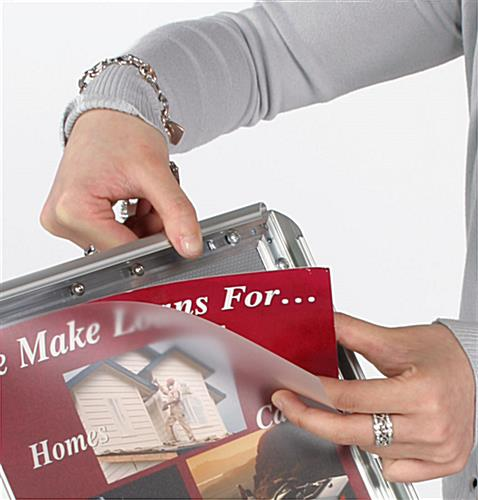 "Sign Stand Featuring 17"" x 11"" Snap Frame"