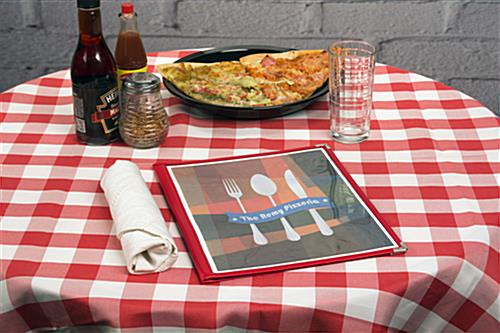 "Fold Out Red 8.5"" x 11"" (2) Panel Menu Covers"
