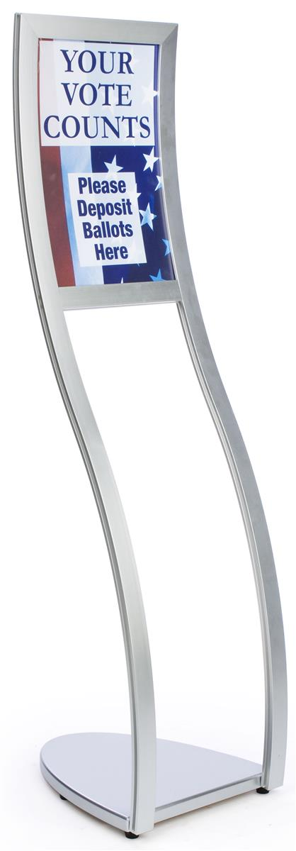 Curved Sign Frame Stands 11 X 17 Inch Poster Holder