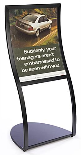 "Menu Display Showcases A 22"" x 28"" Sign"