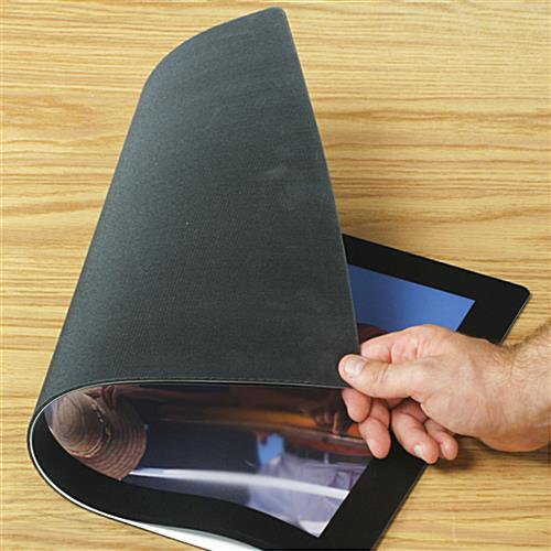 Social distancing countertop mat with anti-skid rubber backing