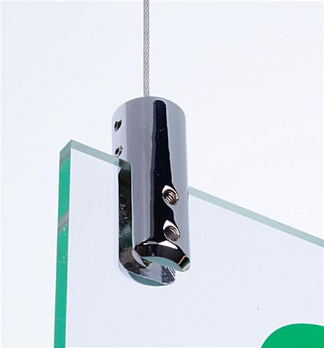 Cable Hanging Kit Displays Signs Overhead