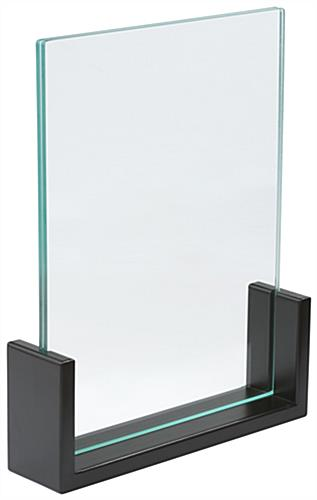 Bamboo Sign Holder Stand, Acrylic