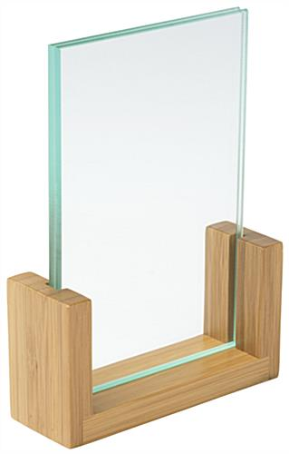 Bamboo Menu Holder, Acrylic Panels
