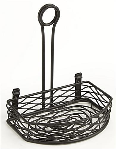 Table Caddy Flat Back With Wrought-Iron Birds Nest Design