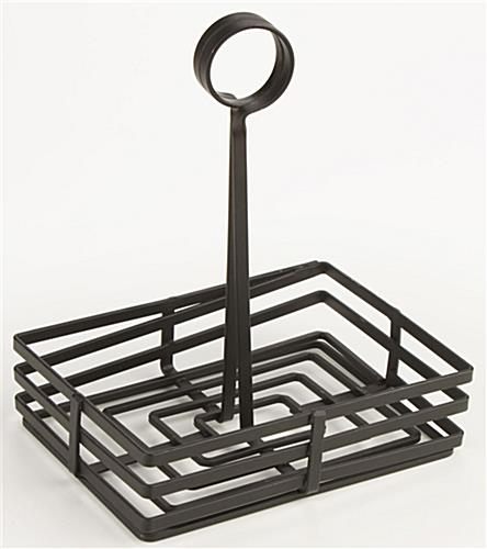 Condiment Tray: Rectangular, Wrought-Iron Flat Coil Design