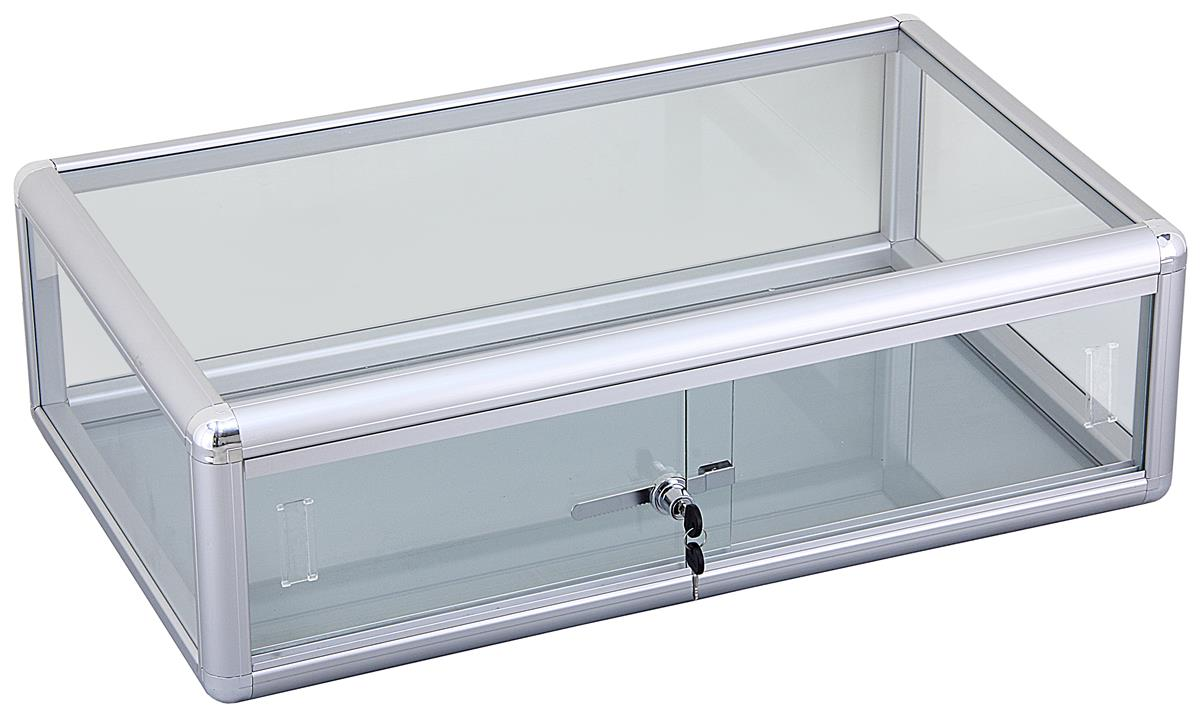 Aluminum Countertop Showcase Glass Top